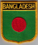 Bangladesh Embroidered Flag Patch, style 07.
